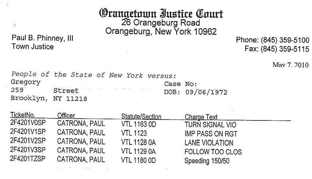 High Speeding Tickets In New York