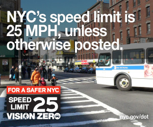 NYC Speed Limit is 25 MPH