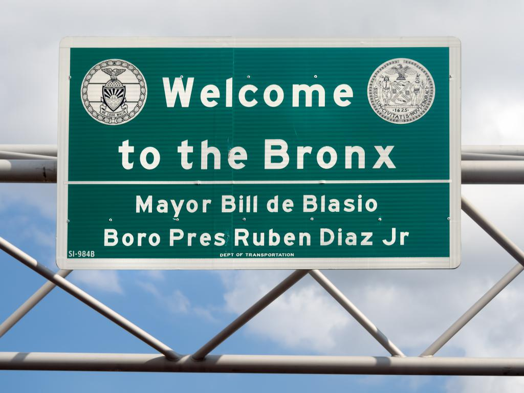 bronx new york sign