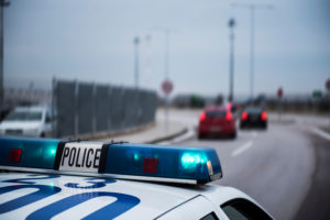 police following
